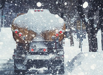 Oil Truck in Snow